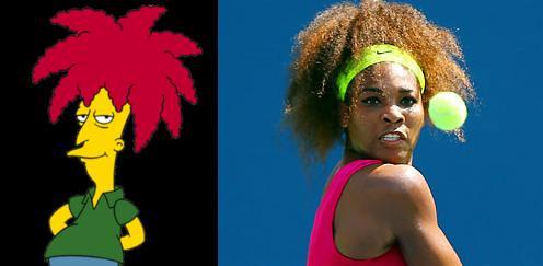 Serena Williams has a hair twin