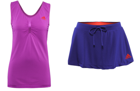 The apparel Bobusic wore on January 14, 2013 that is now on clearance at TennisWarehouse.com.  The purple tank is shown because that is all that is in stock now.