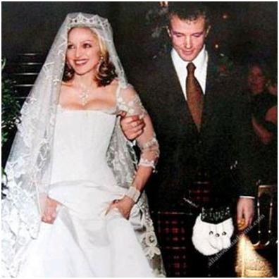 Here is Madonna wearing a Stella McCartney design at her wedding in 2000.