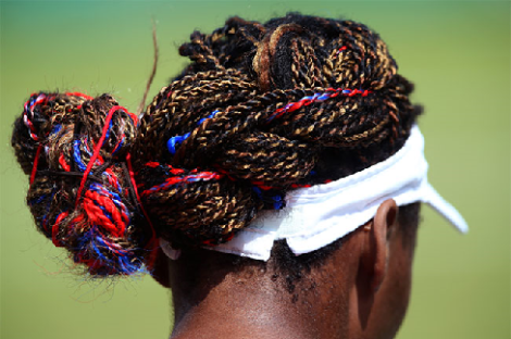 Venus' patriotic hair at the 2012 Olympics in London