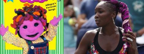 "Left: Allegra of ""Allegra's Window"" fame. Right: Allegra's hair twin, Venus Williams"